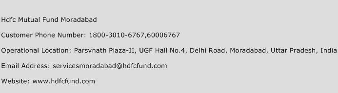 Hdfc Mutual Fund Moradabad Phone Number Customer Service