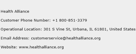 Health Alliance Phone Number Customer Service