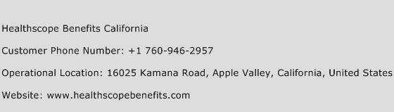 Healthscope Benefits California Phone Number Customer Service