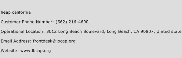 Heap California Phone Number Customer Service
