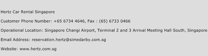 Hertz Car Rental Singapore Phone Number Customer Service