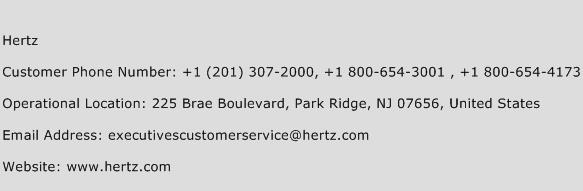 Hertz Phone Number Customer Service