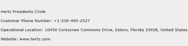 Hertz Presidents Circle Phone Number Customer Service