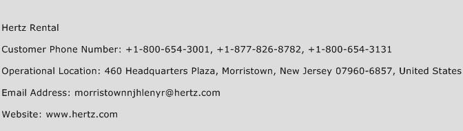 Hertz Rental Customer Service Phone Number | (Toll Free) Contact ...