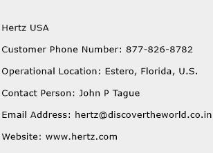 Hertz USA Customer Service Phone Number | Contact Number | Toll ...