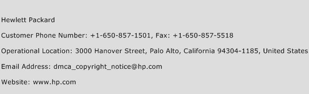 Hewlett Packard Phone Number Customer Service