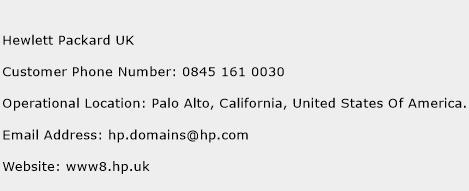 Hewlett Packard UK Phone Number Customer Service
