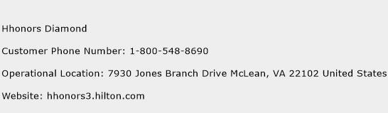 Hhonors Diamond Phone Number Customer Service