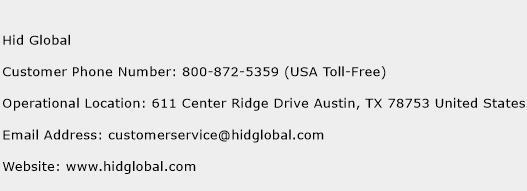 Hid Global Phone Number Customer Service