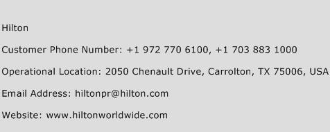 Hilton Phone Number Customer Service
