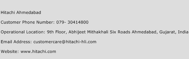 Hitachi Ahmedabad Phone Number Customer Service