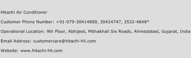Hitachi Air Conditioner Phone Number Customer Service