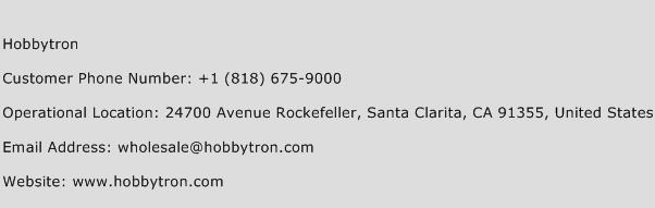 Hobbytron Phone Number Customer Service