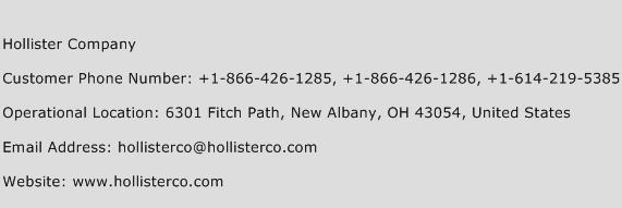 Hollister Company Phone Number Customer Service