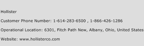 Hollister Phone Number Customer Service