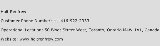 Holt Renfrew Phone Number Customer Service