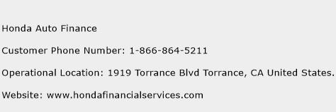 Honda Auto Finance Phone Number Customer Service