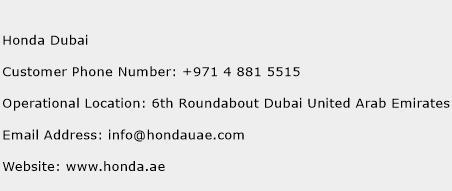 Honda dubai customer service phone number contact number for Honda 800 number