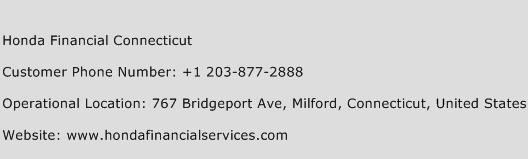Honda Financial Connecticut Phone Number Customer Service