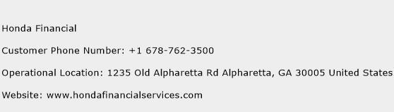 Honda Financial Phone Number Customer Service