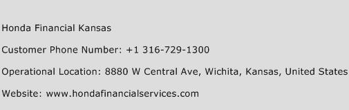Honda Financial Kansas Phone Number Customer Service