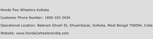 Honda Two Wheelers Kolkata Phone Number Customer Service