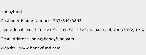 Honeyfund Phone Number Customer Service