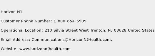 Horizon NJ Phone Number Customer Service