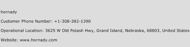 Hornady Phone Number Customer Service