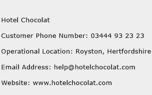 Hotel Chocolat Phone Number Customer Service