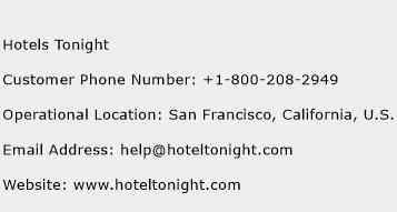 Click Here To View Hotels Tonight Customer Service Phone Numbers