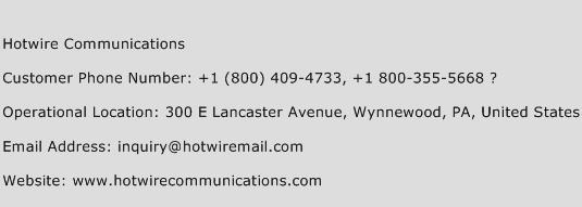 Hotwire Communications Phone Number Customer Service