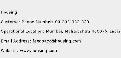 Housing Phone Number Customer Service