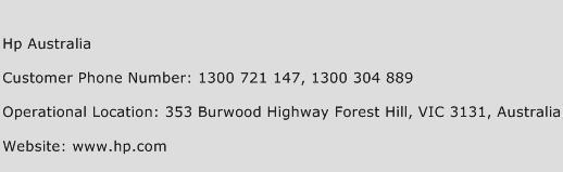 Hp Australia Phone Number Customer Service