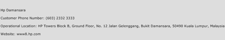 Hp Damansara Phone Number Customer Service