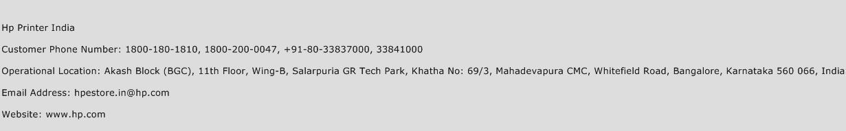 Hp Printer India Phone Number Customer Service