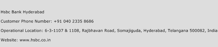 Hsbc Bank Hyderabad Phone Number Customer Service