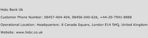 Hsbc Bank Uk Phone Number Customer Service