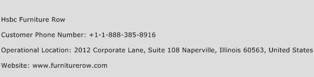 Hsbc Furniture Row Phone Number Customer Service