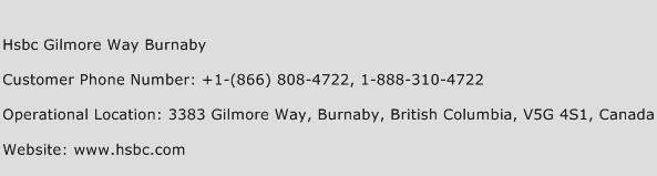 Hsbc Gilmore Way Burnaby Phone Number Customer Service