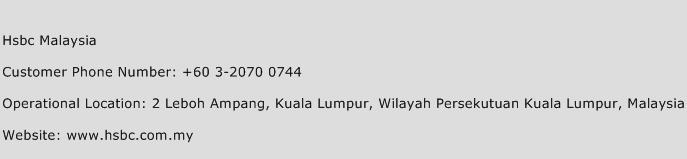 Hsbc Malaysia Phone Number Customer Service