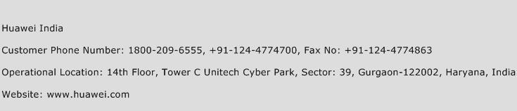 Huawei India Phone Number Customer Service