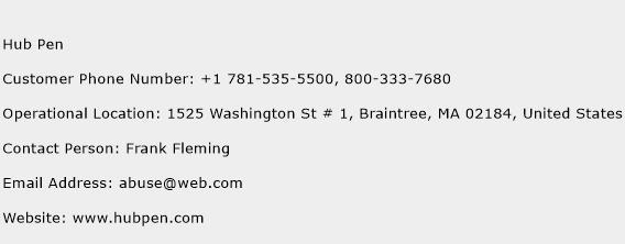 Hub Pen Phone Number Customer Service