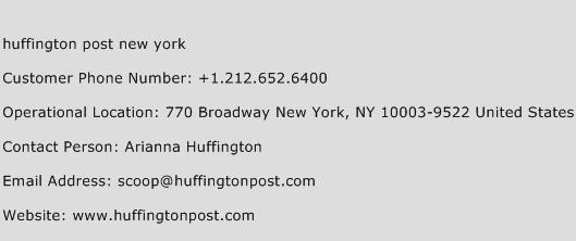 Huffington Post New York Phone Number Customer Service