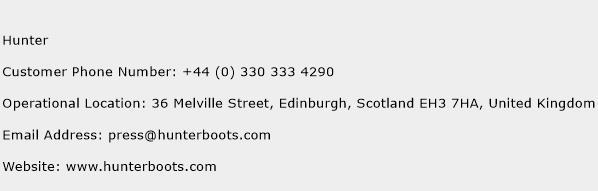 Hunter Phone Number Customer Service