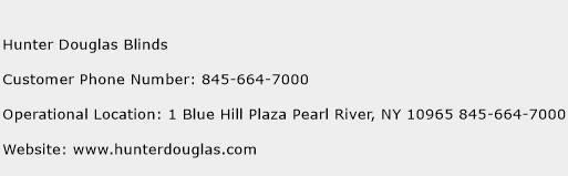 Hunter Douglas Blinds Phone Number Customer Service