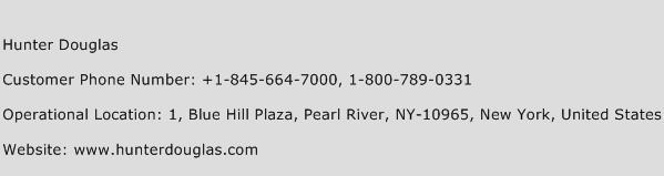Hunter Douglas Phone Number Customer Service