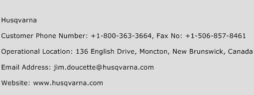 Husqvarna Phone Number Customer Service