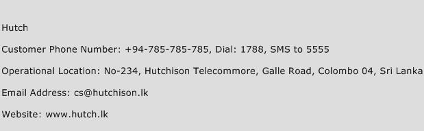 Hutch Phone Number Customer Service