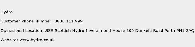 Hydro Phone Number Customer Service